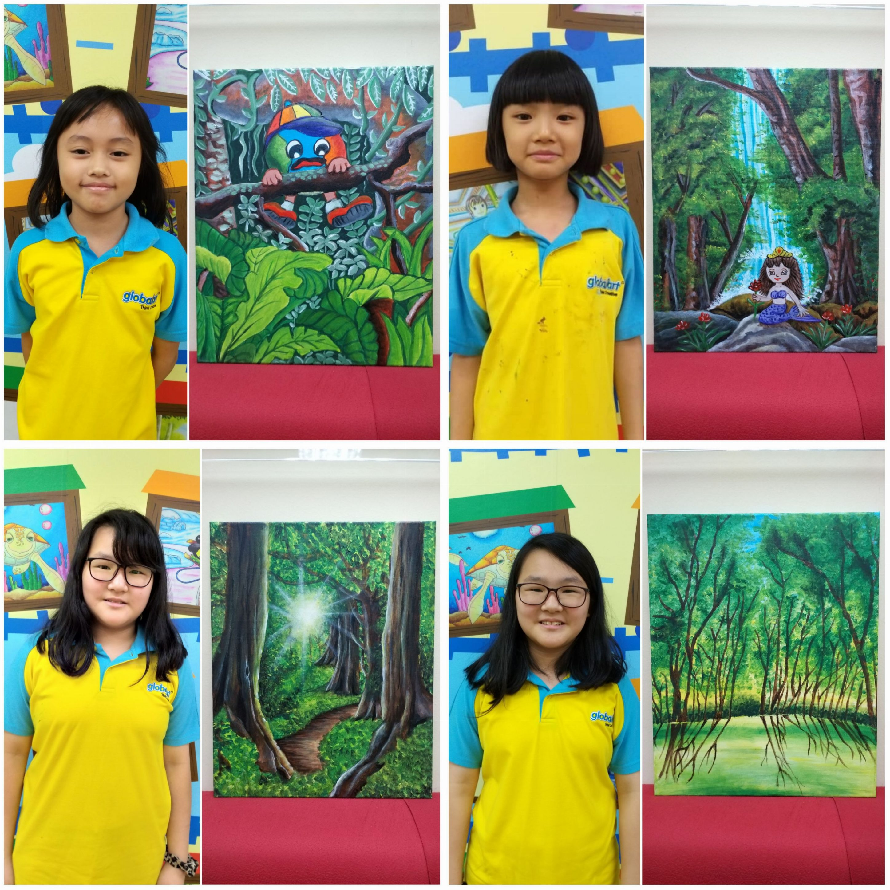 Students Artwork For Globalart & Gloria Jean's Coffees Charity Campaign 2019