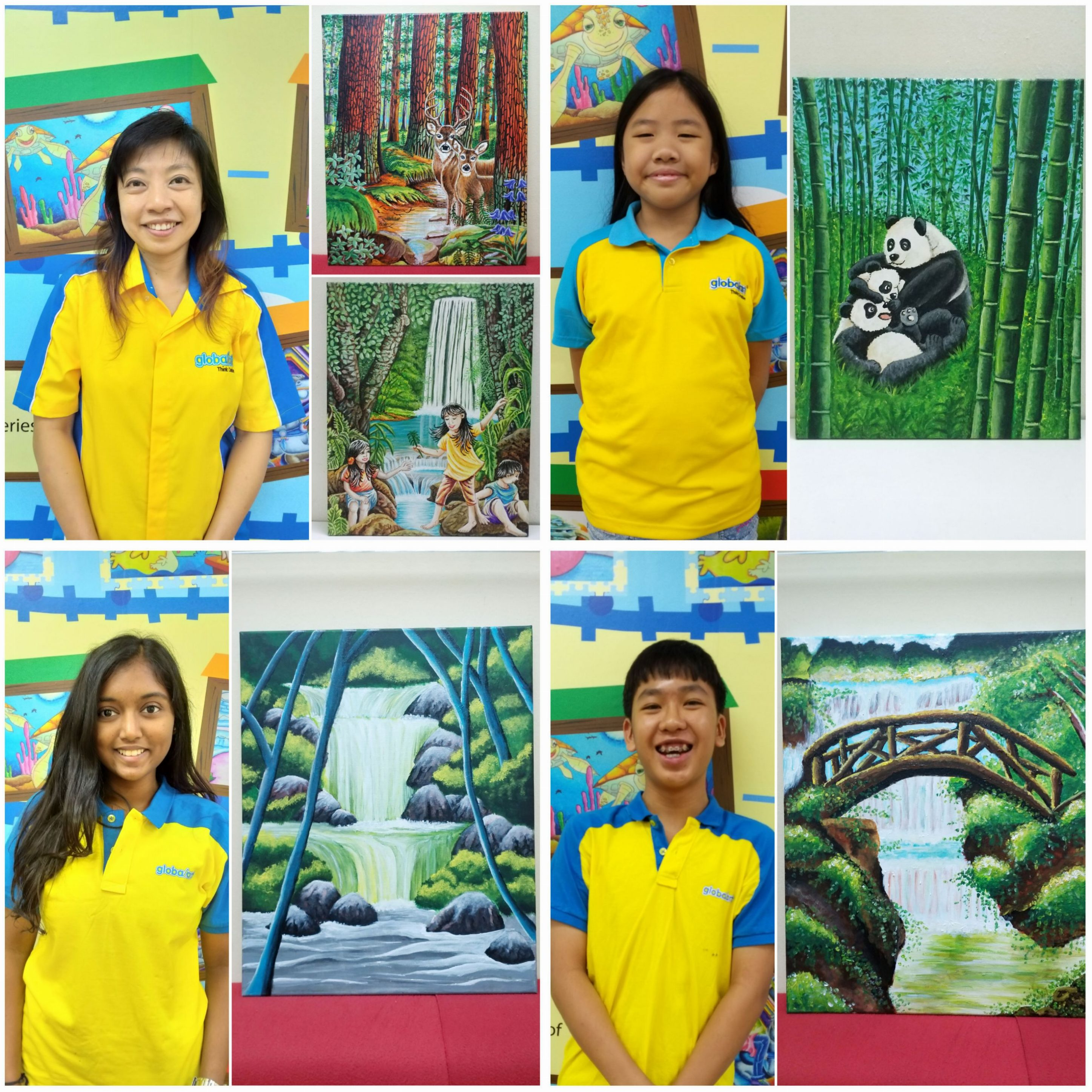 Teacher & Students Artwork For Globalart & Glorie Jean's Coffees Charity Campaign 2019