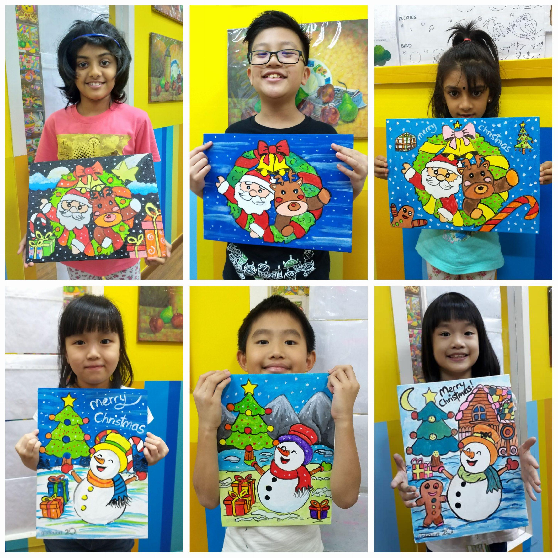 Dec 2019 Annual Handicraft – Acrylic Painting