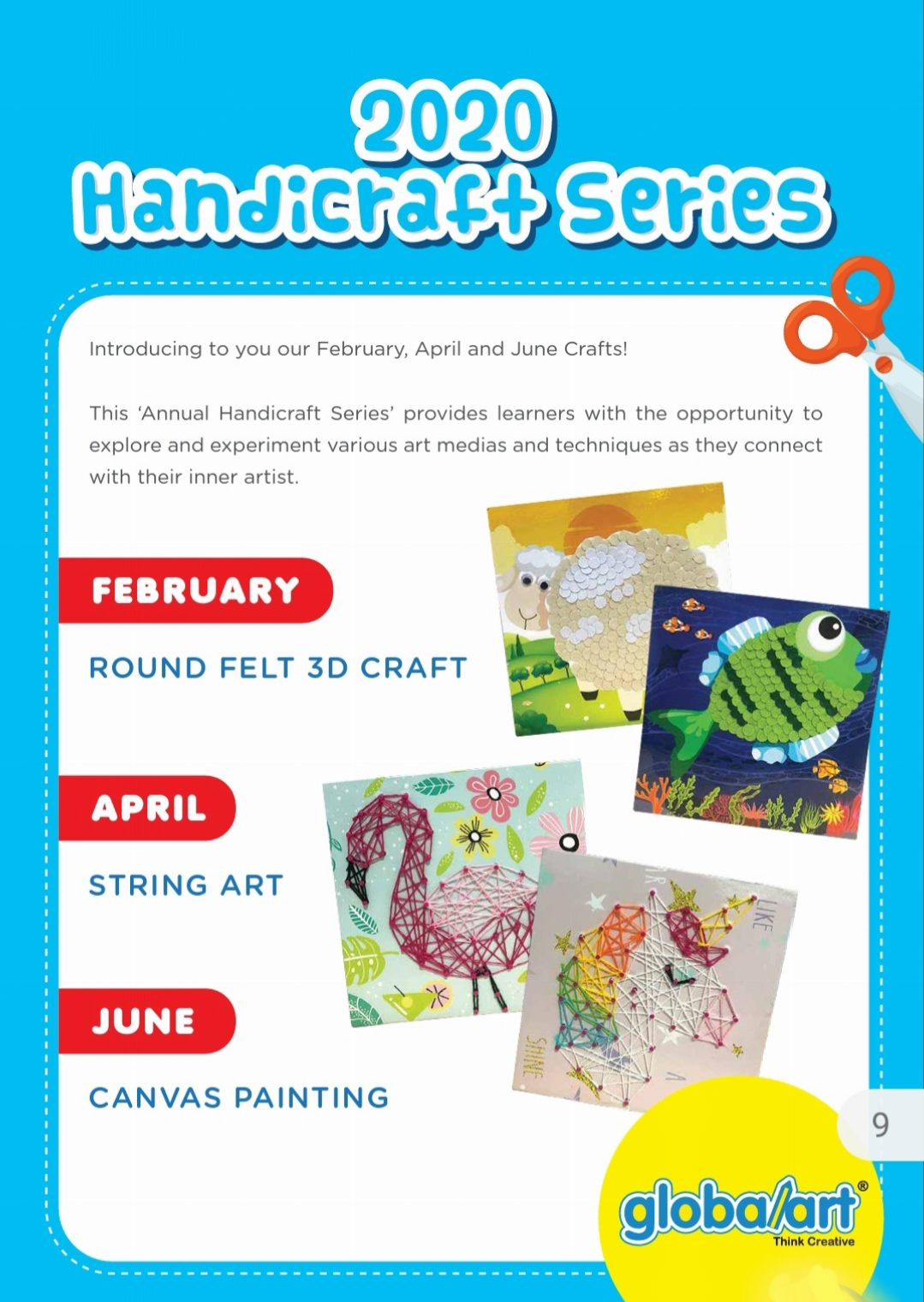 """2020 """"Annual Handicrafts Series"""" For The Months Of February, April And June"""