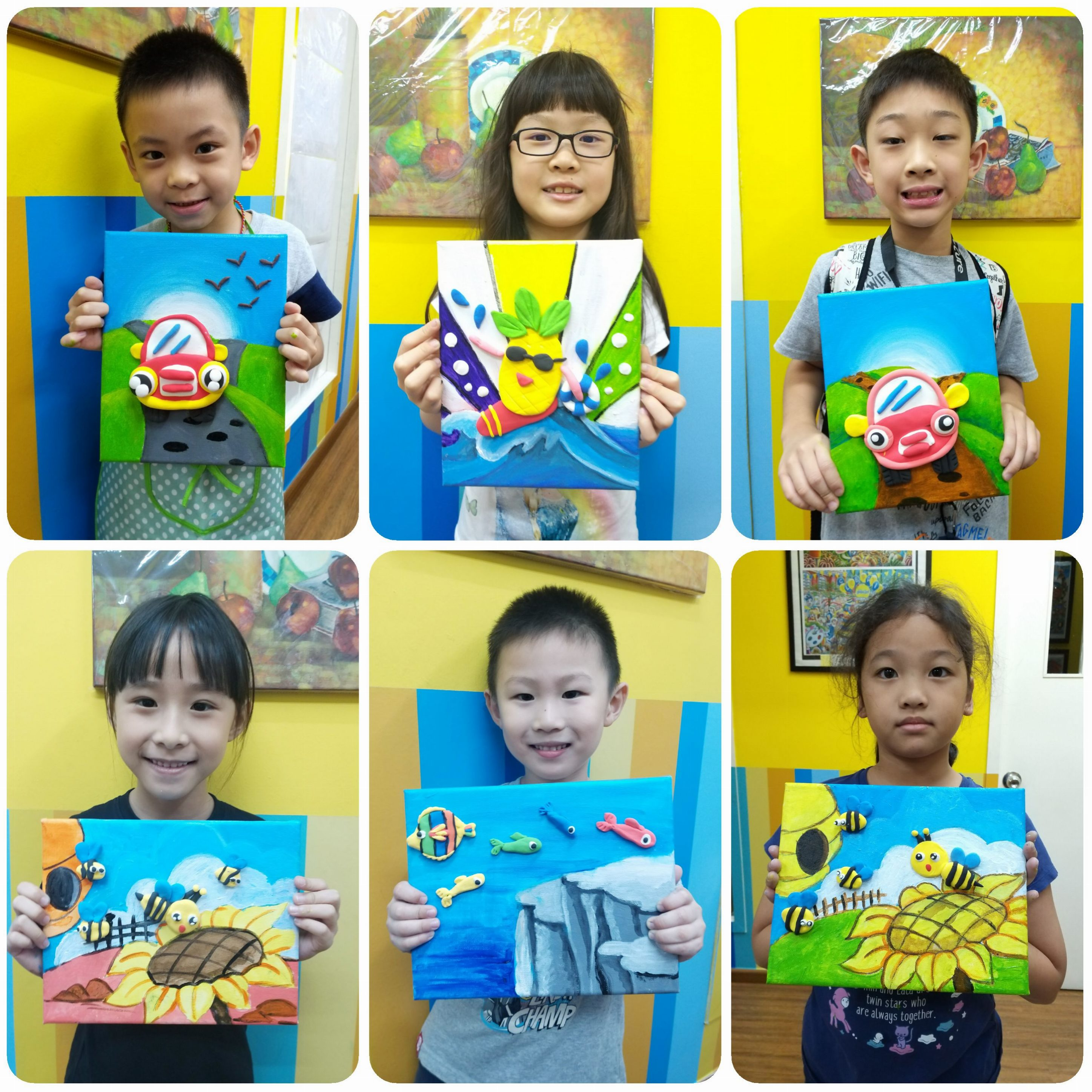2019 Year End School Holiday Workshop ~ 3D Clay Painting