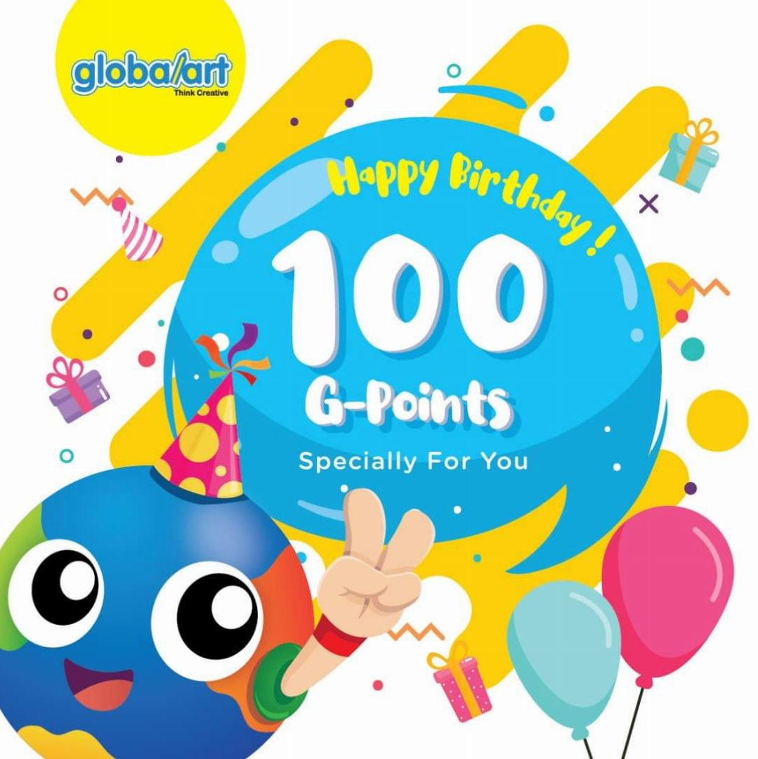 Good News For HAPPY BIRTHDAY ~ 100 G-Points Specially For Your Child's On Their Big Day