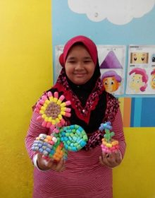 GAC Student doing Handicraft